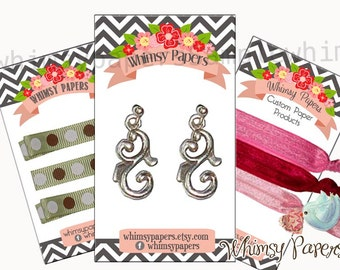 Display cards for earrings, hair bow display cards, various sizes available