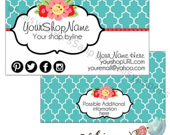 Flower Business Cards,  double sided print - FREE SHIPPING*