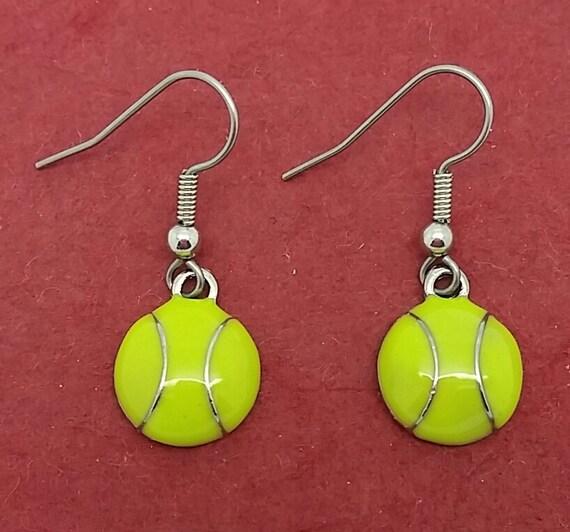 cutest tennis earrings