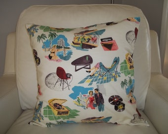 Retro Midcentury Modern Pillow Cover 18 x 18