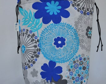 Project Bag Large Blue Floral