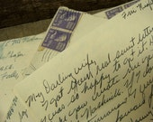 One Antique Handwritten Love Letter from a Solider to His Darling Wife 1953 from the Air Force Base in Texas
