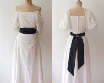 white lace dress / eyelet lace dress / Five Petals Lace dress