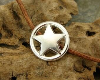 Open Range - Unique  Metal Shank Button  - Three Pieces - Perfect For Leather Wrap Bracelets (B19A)