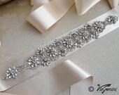 Bridal crystal belt , rhinestone sash, bridal sash, bridal belt