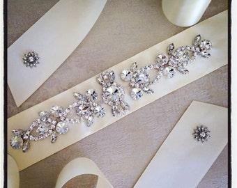 Bridal Sash Belt, Bridal Sash , Wedding Sash Belt , Crystal Wedding Belt, Crystal Bridal Sash, Rhinestone Wedding Belt Sash