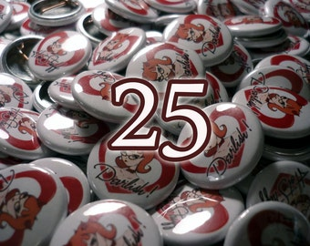 25 Custom 1 Inch Pin-Back Buttons