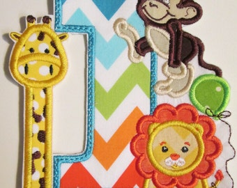 Iron On Applique - Jungle Animal Birthday