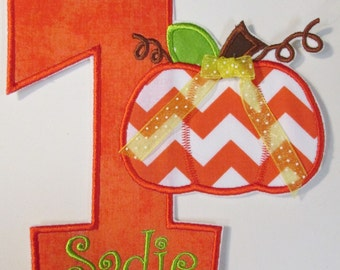 Iron On Applique -Pumpkin Birthday