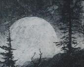 Moon Rise On The Gospels - intaglio print