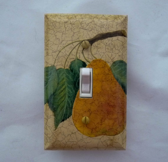 Https Etsy Com Listing 203238194 Pear Light Switch Cover Kitchen Decor