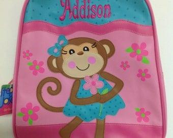 Vinyl Stephen Joseph Go Go Girl Monkey Backpack Diaperbag