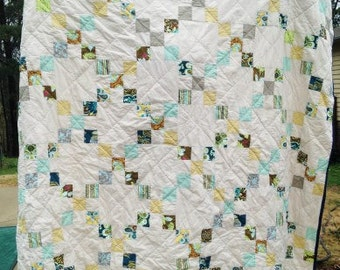 Irish Chain Quilt, You choose Size and color palette