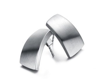 Summer Sales - Stainless Steel Womens Magnetic Stainless Steel Earrings in Upscale Jewelry Gift Box