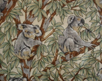 KNITTING BAG APRON - Made To Order Koala Fabric - Up a Gum Tree by Nutex - Please allow 3 weeks for delivery