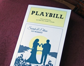 Playbill Theater Design - Bi-fold Folded Wedding Programs, Church Bulletin