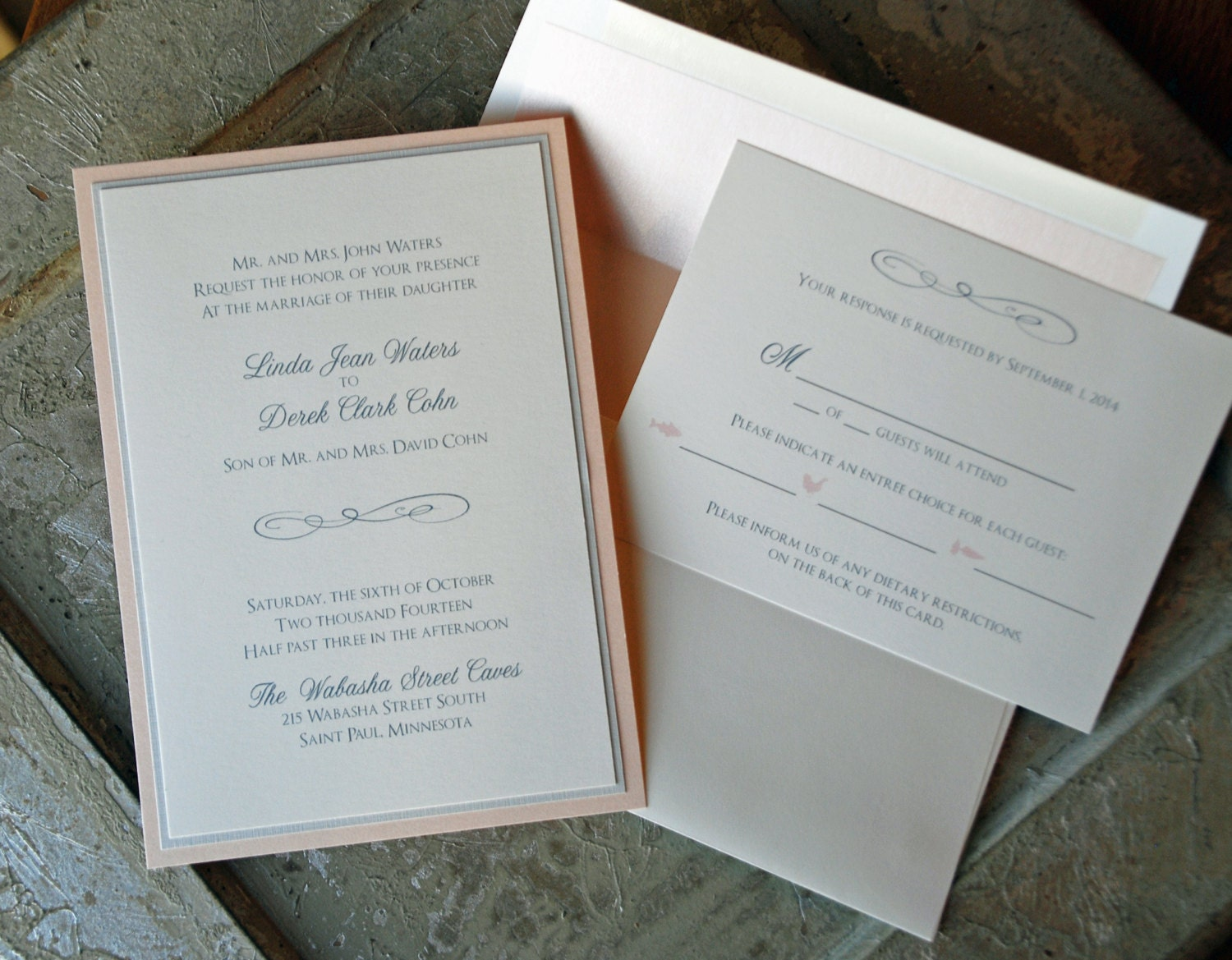 Flourish Wedding Invitations: Wedding Flourish Invitation Set Classic Wedding Invitation