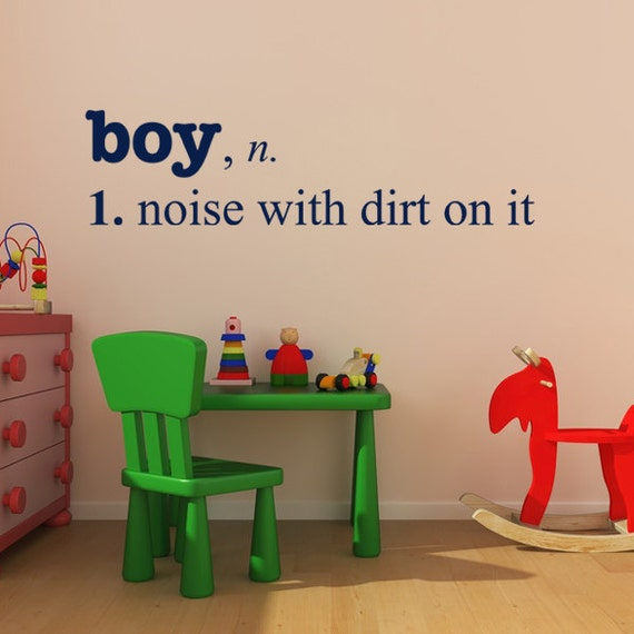 Wall Decoration Definition : Boy noise with dirt definition vinyl wall decal boys
