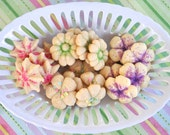 Spring Butter Cookie Flowers - 3 dozen homemade cookies