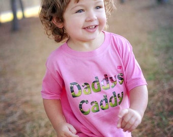 Daddys Caddy Baby Romper Girl Golf Bodysuit Girl Tee's Dads Golf Buddy Tshirt NewBorn Golfing Rompers Fathers Day Gift Girls Summer Shirts