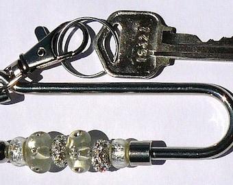White Key Finder, Bling Key Finder, Key Chain, Key Fob