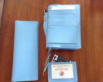 Biblecover, tractholder and business card holder; 3 piece matching set.