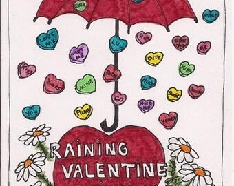 Valentines Day blank notecard V005