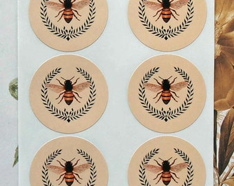 Stickers Bee Wreath Vintage Style Envelope Seals Wedding Party Favor Treat Bag Sticker SP004