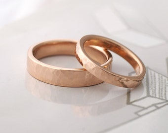Simple Facets Wedding Set 2 - Modern Handmade Wedding Rings