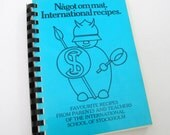 International School of Stockholm Sweden 1970s Vintage Cookbook Local Compiled Parent Teacher Small Recipe Cook Book
