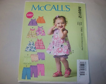 New McCall's  Baby Clothes Pattern, M6912 (Free US Shipping)