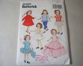 New Butterick Doll Clothes Pattern, B6000 (Free US Shipping)