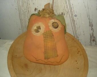 Punkin' Pete Bowl Filler/Cubby Tuck, Primitive Pumpkin,  Halloween, Fall, Autumn, Thanksgiving, Ofg, Faap, Hafair, Dub