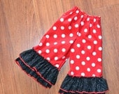 Double ruffle Minnie pants or capris