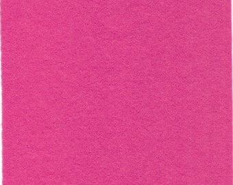 Pure Wool Felt Sheet - Light Fushia - Various Sizes