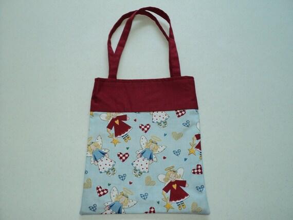 Handmade Fabric Gift Bags -  Christmas - Angels