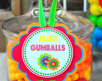 Fiesta Party Candy Jar Labels, Fiesta Party Decorations, Cinco De Mayo Party