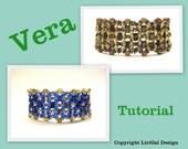 Vera SuperDuo&Rulla Beadwork Bracelet PDF Tutorial