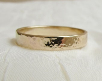 Gold Filled 3 mm Textured Wide Band 14kt Date Name or Message Added Graduation Anniversary Wedding