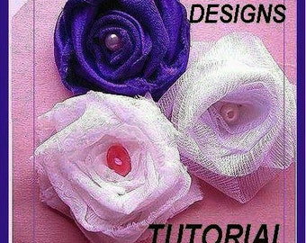 pdf flower tutorial SUPER EASY Rolled ROSE. num. 2, . for more flower-making tutorials  in my shop  No sewing machine required