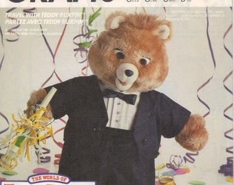 Teddy Ruxpin Tuxedo Outfit Clothes, Vintage McCalls Sewing Pattern #2742,  for talking bear. Buy all 6 get 1 free.  uncut pattern