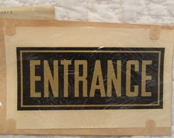 Antique Entrance Decal in original package by Duro Decals