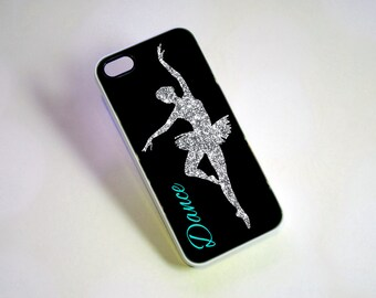 Personalized Phone Case, Glitter Dancer Monogram Phone Case