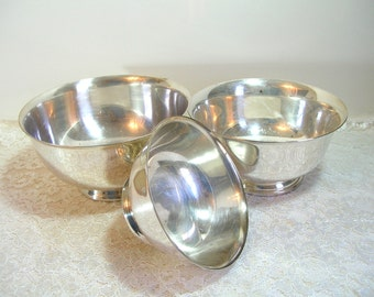 Vintage Silver Plated Revere Bowls