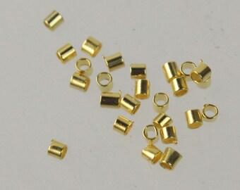 500 pcs Gold Plated micro Crimp tube bead 1.5x1.5mm - Ship from California USA