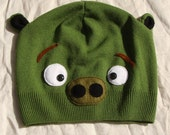 PIG Angry birds hat, green