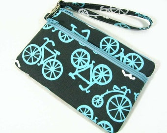 Bicycles id holder, Large id wristlet, Coin purse, Cell phone purse