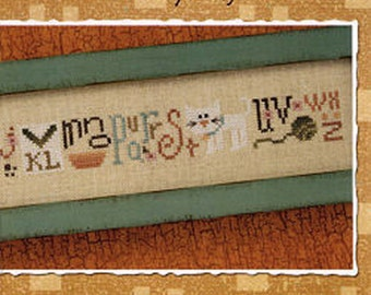 Lizzie Kate Snippet S114 - Kitty String - Counted Cross Stitch Chart, Pattern