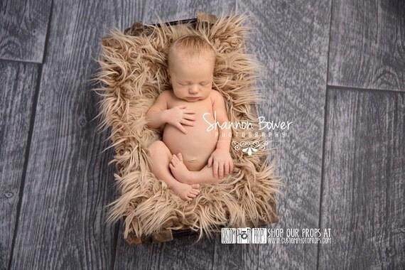 RTS Faux Flokati Newborn Photo Props, Pony Fur Newborn Baby Photography Props - Newborn Photo Props, Long Fur, Basket Stuffer, Baby Blanket