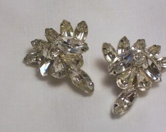 Vintage Kramer Rhinestone Earrings  - Clip Ons